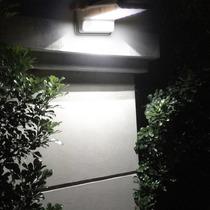 Lâmpada Solar Externa 20leds Sensor Moviment Quintal Garagem