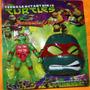 Boneco Tartarugas Ninjas Emite Som Acende Olhos +mascara