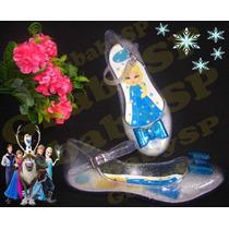 Sapato Sapatilha Sandália Elsa Frozen Cristal Gelo
