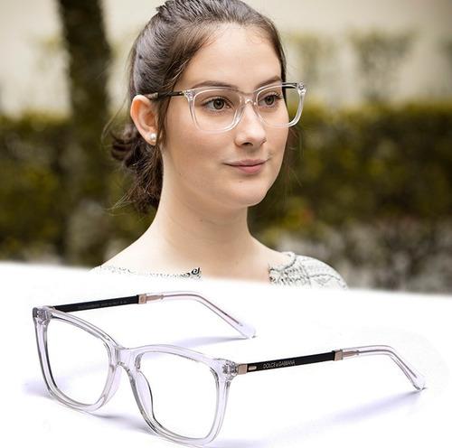 Armação Oculos Grau Feminino Importado Dg64 Acetato Original - R ... 3568d5ee87