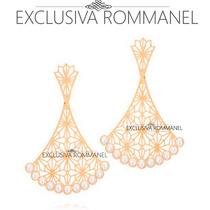 Rommanel Brinco Formato Leque Detalhes Vazados Perola 525392