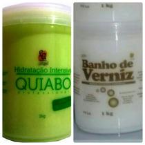 Mascara De Hidratação Profunda De Quiabo + Banho De Verniz