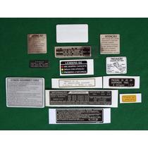 Adesivos Advertência Honda Cbx 750 Indy Originais