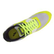 Tênis Nike Air Max 90 Premium Cinza E Amarelo Limão Mod:1392