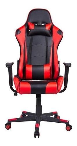 Cadeira De Escritório Pelegrin 3012 Jogador Ergonômica Preta/vermelha