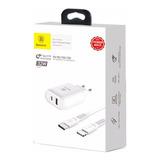 Kit Baseus 32w Carregador Rapido iPhone X 8 Plus Com Pd Cabo