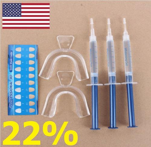 Kit Clareador Dental Whiteness Gel 22 Clareamento Caseiro R 35