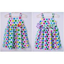 Vestido Infantil Importado - Poá Colorido Tamanho 5