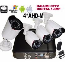 Kit Dvr Tribido Ahd-m 4 Canais + 4 Câmeras 1.3mp 30m 36 Leds