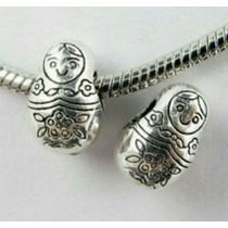 1 Berloque Boneca Matrioska (russa) - Serve Pulseira Pandora