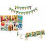 Kit Festa Aniversário Faixa + Toalha + Painel Tema Chaves