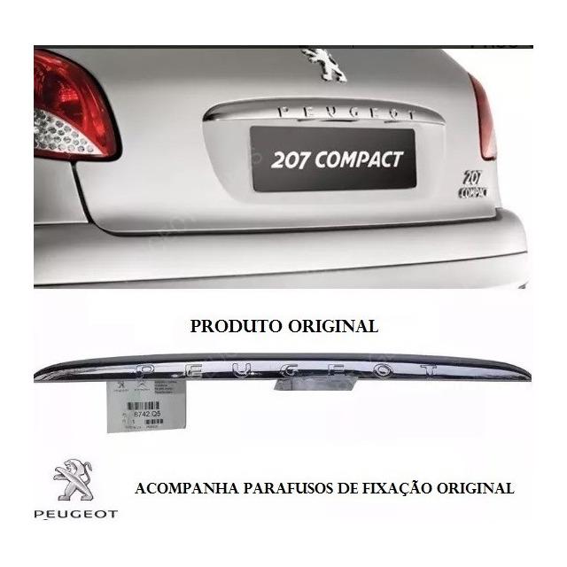 53bdec9e8 Friso Cromado Tampa Do Porta Mala Peugeot 206 207 Hatch Orig em Belo ...