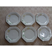 Conjunto Pratos Rasos 12 Peças Porcelana Schmidt Encanto
