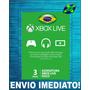 Xbox Live Gold Brasil Br Usa Cartão 3 Meses One 360 - Codigo