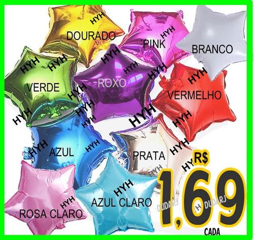 42 Balão Metalizado Estrelas Cores C 45cm - R  70 en Melinterest 7f221b868e
