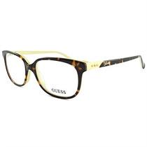 Óculos De Grau Feminino Guess Acetato Marrom Com Laranja