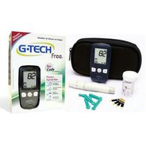 Aparelho Medidor De Glicose G-tech Completo.