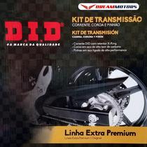 Kit Pinhao Coroa Corrente Relacao Did Cb500 X F Cbr500 13...