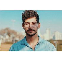 0c9a2d12c Óculos Estiloso Armação Redonda Masculino Grande Lançamento à venda ...