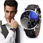 Relógio Luxo Masculino Geneva Pulso Social Pulseira Preta Original