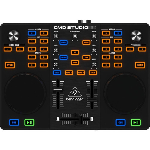 Controlador Dj Behringer Cmd Studio 2a Preto