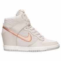 Tênis Nike Dunk Sky Hi Light Bone Metallic Sneakers Original