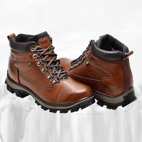 93e9ed1d4b Bota Sapato Masculino Lenhador Em Couro Legitimo Conforto