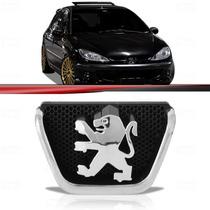 Emblema Grade Dianteira Peugeot 206 99 Até 08 Cromado