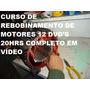 Curso De Rebobinamento De Motor Em Vídeo 8 Dvd