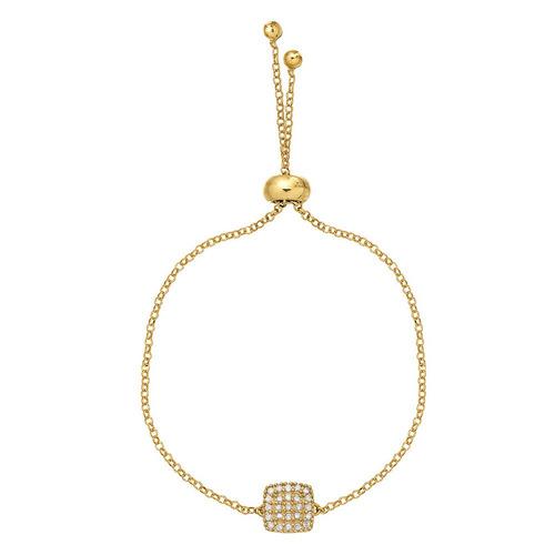 Pulseira Em Ouro Feminino 18k ( 750 ) Com Pedra Natural Crave