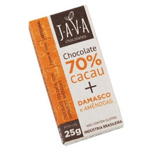 Chocolate 70% Cacau Orgânico Sem Glúten/lactose - Damasco