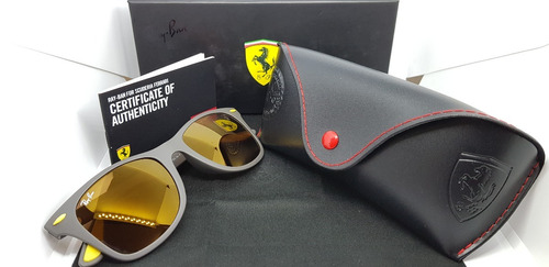 f4f716afe6019 Óculos Sol Ray-ban Scuderia Ferrari Rb4195-f608 6b Original