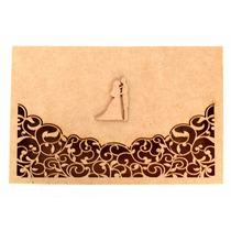 Kit 10 Caixas De Convite Noivos - Mdf Crú - Casamento
