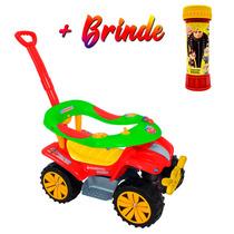 716 Carrinho De Passeio Andador Boy Car + Brinde Biemme