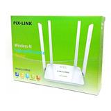 Roteador Wireles Wifi Sem Fio Pixlink 300mbps 4 Antenas