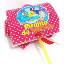 Capa Personalizada P/ Pirulito Qualquer Tema Kit C/ 50 Unid