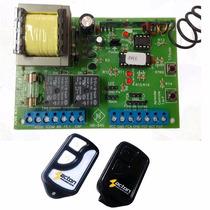 Kit Central Placa Portão Eletrônico Universal + 2 Controles