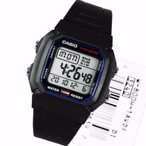 Relógio Casio 100 Metros Bat. 10 Anos Cronógrafo W-800h-1a
