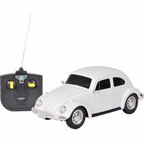 Carro De Controle Remoto Volkswagen Fusca Branco 1:24