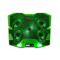 Cooler Para Notebook Multilaser Gamer Verde Com Led - Ac292