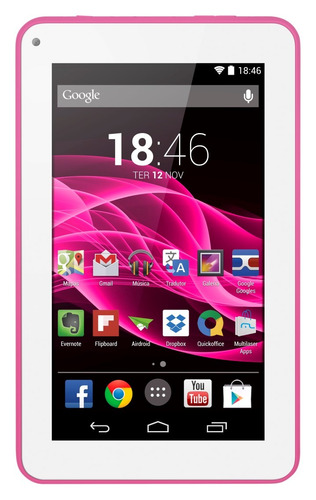 Tablet Supra Quad Core Rosa Multilaser Nb201 Mania Virtual