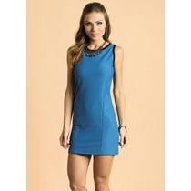 Vestido Curto Azul Royal - Tam Gg