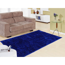 Tapetes Sala Soft Macio 150x200 Peludo Azul Belga Persa Casa