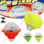 Kit 03un Pião Mini Brinquedo C Luz Led Colorido Peg-top Peao