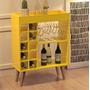 Aparador   Barzinho Para Sala Com Adega   Sonata   Amarelo