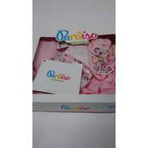 Kit Saida De Maternidade Bebê Menina Paraiso - Macacao Manta