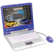 Laptop Candide Garagem Sa C/ 40 Atividades Bilíngue - Azul