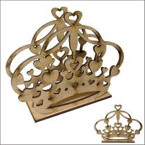 Porta Guardanapo Papel De Coroa Mdf Cru Festa Princesa 3mm