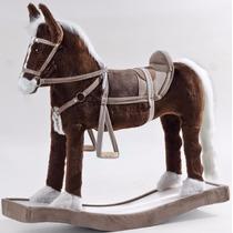 Cavalo Cavalinho Balanço Madeira E Pelucia Infantil Crianças