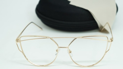 3c6d13b9b Armação Óculos Grau Starligh Feminino Gatinha Metal Dourado à venda ...